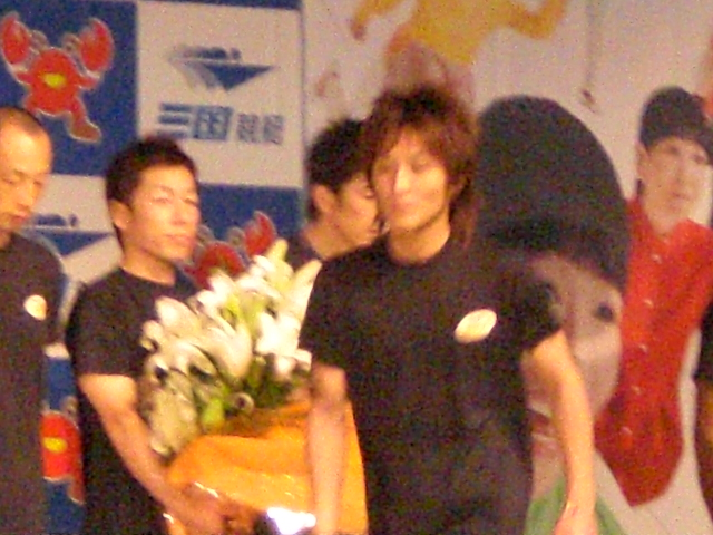 石橋道友選手。ごめんピンボケした。