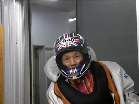 山下選手64歳・レースから帰ってきたところを撮影